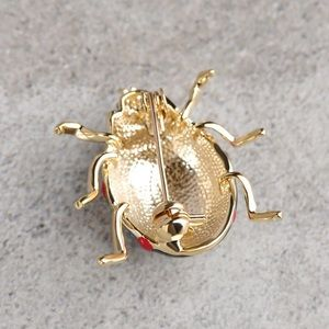 Jewelry   Black Enamel Ladybug Brooch